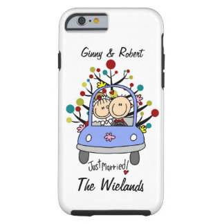 Stick Figure Wedding Just Married iPhone 6 Tough iPhone 6 Case
