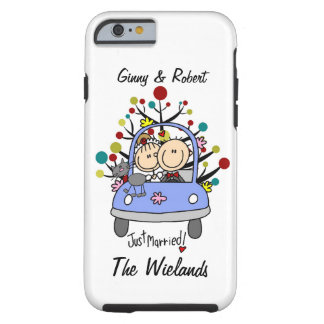 Stick Figure Wedding Just Married w Cat iPhone 6 Tough iPhone 6 Case