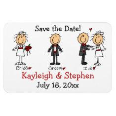 Stick Figure Wedding Premium Flexi Magnet