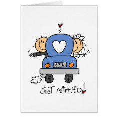 Stick Figure Wedding Thank You Cards