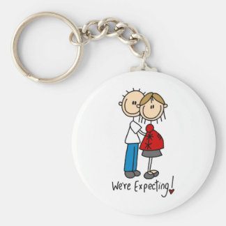 Stick Figure We're Expecting Keychain