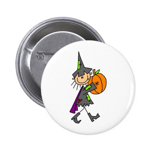 Stick Figure Witch Button