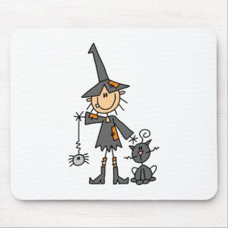 Stick Figure Witch Mousepad