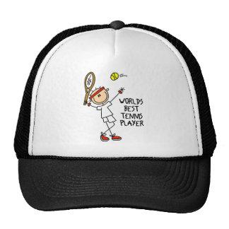 Stick Figure Worlds Best Tennis Player Men Basebal Trucker Hat