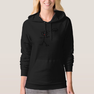 Stick Figure WoW Surprised Black and White Hooded Pullover