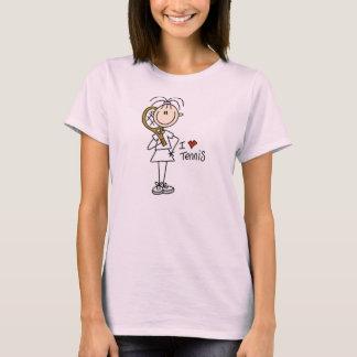 Stick FigureGirl I Love Tennis T-Shirt