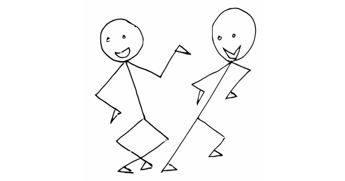 Stick Figure Wedding Invitations: Stick Figures Dancing Cutout