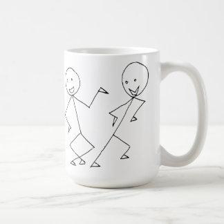 Stick Figures Dancing Mugs