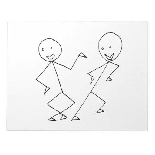 Stick Figures Dancing Notepads