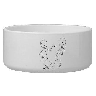 Stick Figures Dancing Pet Water Bowls