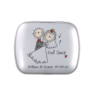 Stick Figures First Dance Tins and Jars w. Candy Candy Tins
