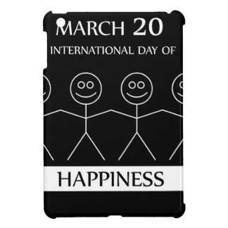 Stick figures holding hands to show happiness iPad mini case