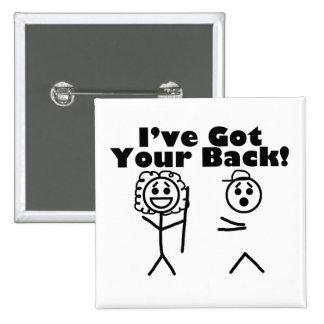 Stick Figures I've Got Your Back Button