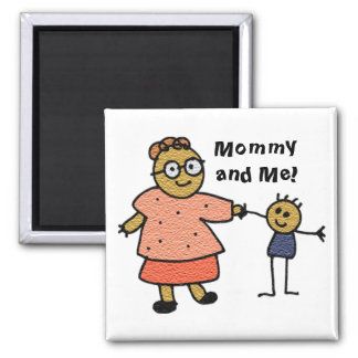 Stick Figures of Mother and Child for Mother's Day Fridge Magnets