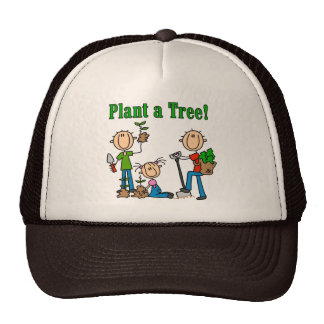 Stick  Figures Plant a Tree T-shirts and Gifts Hat