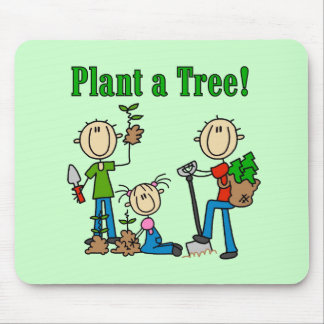 Stick  Figures Plant a Tree T-shirts and Gifts Mousepad