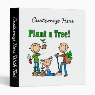Stick Figures Plant a Tree Tshirts and Gifts Binder