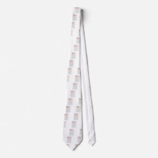 Stick Figures Salute American Flag on Lined Paper Neck Tie