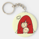 Stick Figures  Tenting Tshirts and Gifts Key Chain