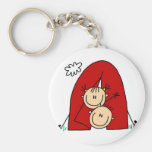 Stick Figures  Tenting Tshirts and Gifts Keychain