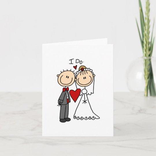 stick figures wedding note card zazzle com