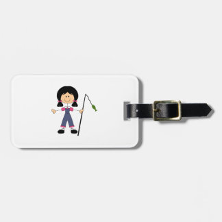 STICK FISHERGIRL TAGS FOR BAGS