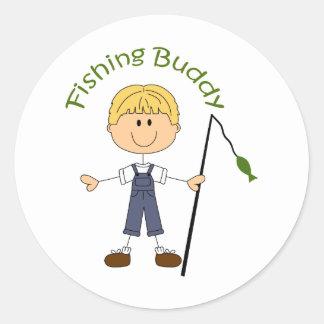 STICK FISHING BUDDY CLASSIC ROUND STICKER