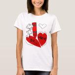 Stick Girl Be Mine Valentine T-Shirt