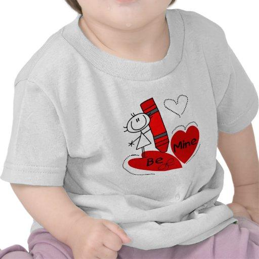 Stick Girl Be Mine Valentine T Shirts