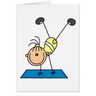 Stick Girl Doing Flips Tshirts and Gifts Card