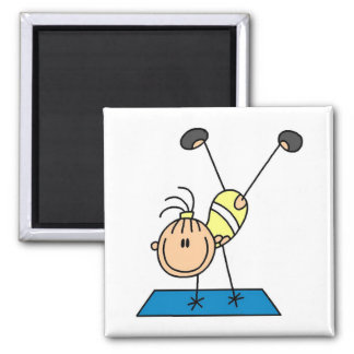 Stick Girl Doing Flips Tshirts and Gifts Magnet