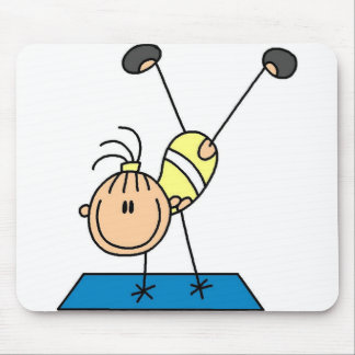 Stick Girl Doing Flips Tshirts and Gifts Mouse Pad