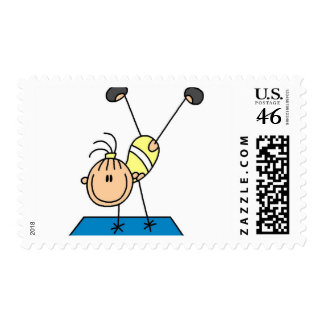Stick Girl Doing Flips Tshirts and Gifts Stamp