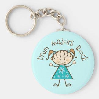 Stick Girl Drum Majors Rock Gift Basic Round Button Keychain