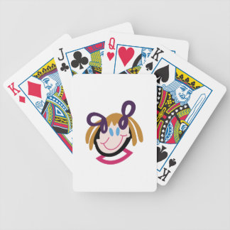 Stick Girl Face Bicycle Playing Cards