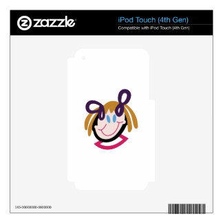 Stick Girl Face iPod Touch 4G Skin
