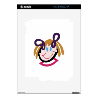Stick Girl Face Skins For iPad 2
