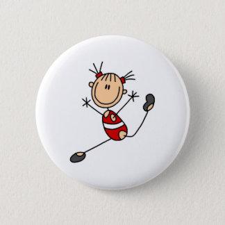 Stick Girl Gymnast Button