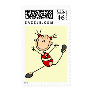 Stick Girl Gymnast Tshirts and Gifts Stamps