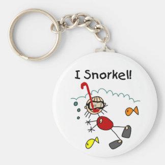 Stick Girl I Snorkel Keychain