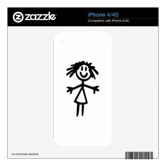 Stick Girl iPhone 4 Skin