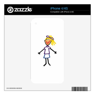 Stick Girl iPhone 4S Skin