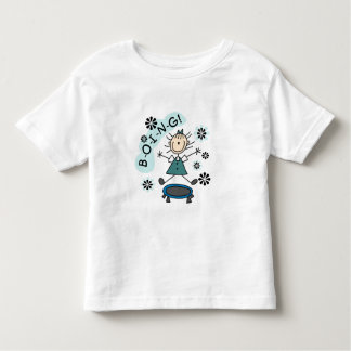 Stick Girl on Trampoline Tee Shirt
