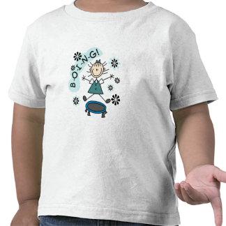 Stick Girl on Trampoline Tshirt