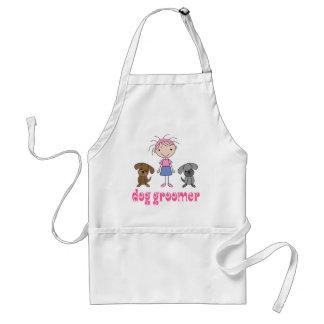 Stick Girl Pet Occupation Dog Groomer Adult Apron