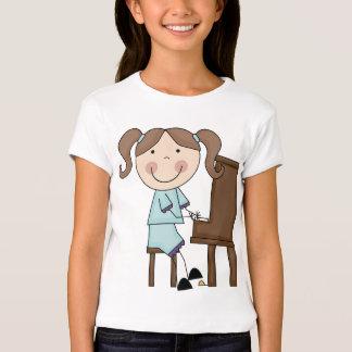 Stick Girl Playing Piano T-Shirt