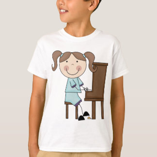 Stick Girl Playing Piano T-Shirt