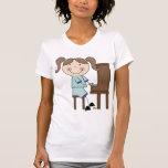 Stick Girl Playing Piano T-shirts