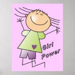 stick girl power poster