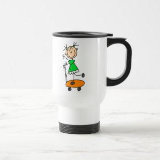 Stick Girl Skating Mug